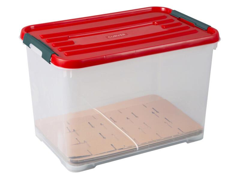 Curver Xmas Box Handy+ boîte de rangement 65l