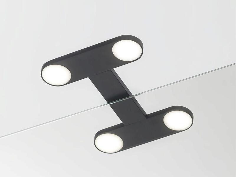eTiger Yaro LED spiegellamp 17cm zwart