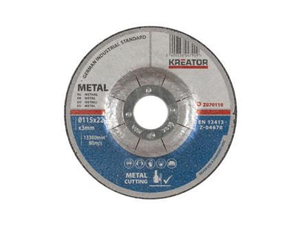 Z070110 disque à tronçonner métal 115x3x22 mm