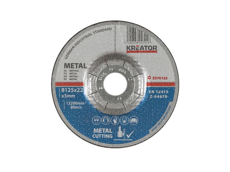 Z070120 snijschijf metaal 125x3x22 mm