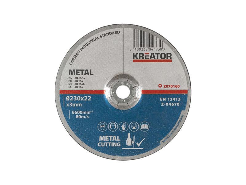 Z070160 disque à tronçonner métal 230x3x22 mm