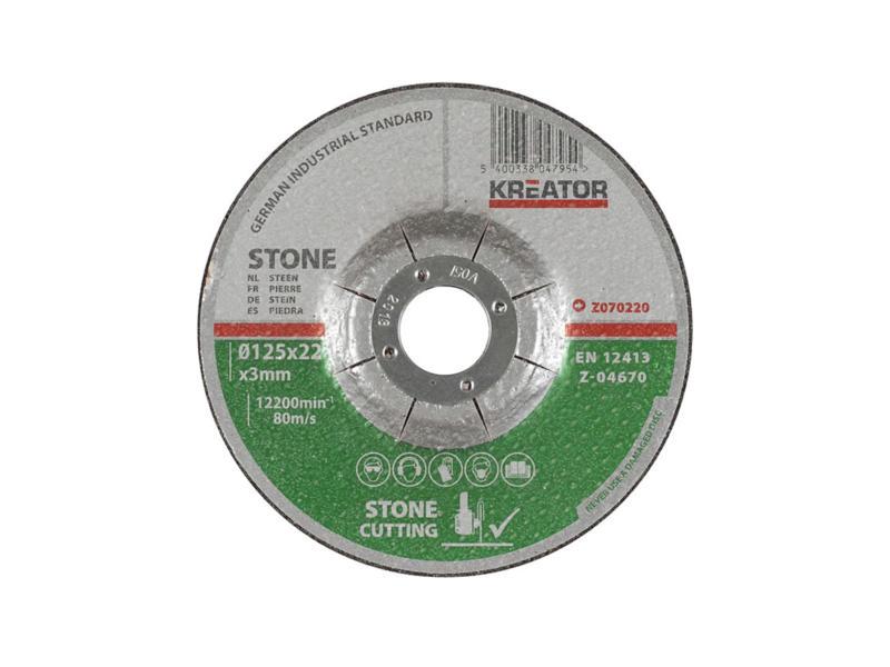 Z070220 disque de découpe pierre 125x3x22 mm