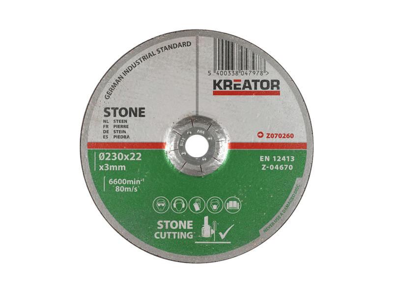 Z070260 disque à tronçonner pierre 230x3x22 mm