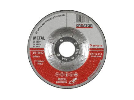Z070310 afbraamschijf metaal 115x6x22 mm