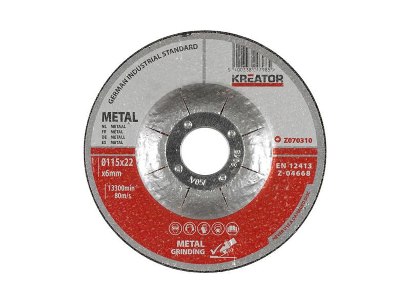 Z070310 meule d'ébarbage métal 115x6x22 mm