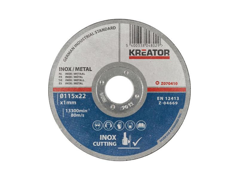 Z070410 disque à tronçonner métal 115x1x22 mm