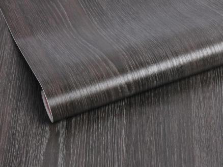 Zelfklevende folie decoratie 45cm x 2m hout zwart