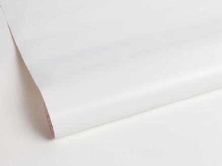 Zelfklevende folie decoratie 45cm x 2m mat wit