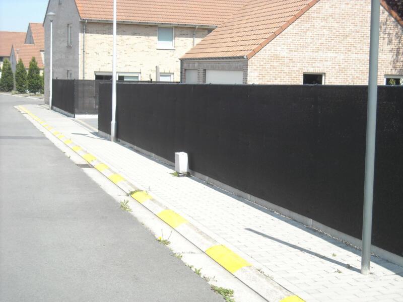 Zichtdoek 95% 2m zwart per lopende meter