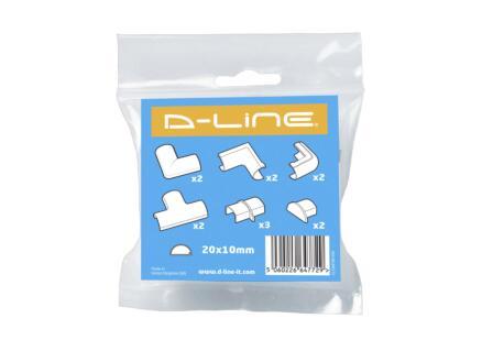 adapter kit voor kabelgoot 20x10 mm wit 10 stuks