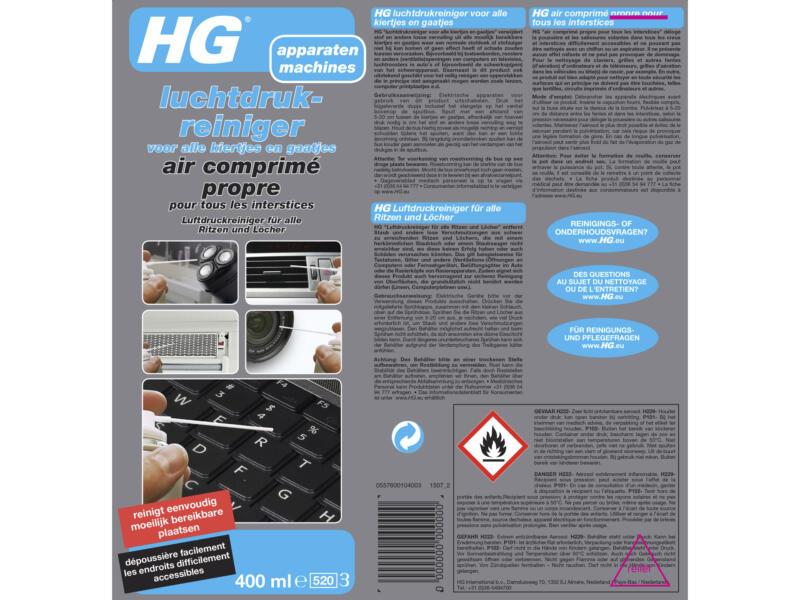 HG air comprimé propre 400ml