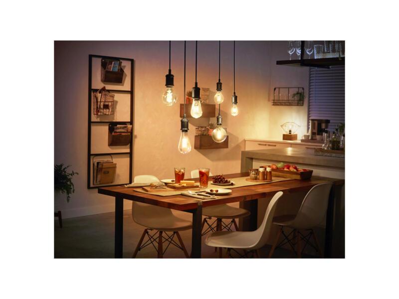 Philips Hue ampoule LED Edison filament verre ambré E27 7W dimmable