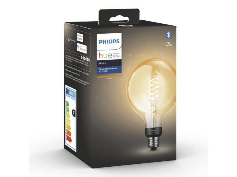 Philips Hue ampoule LED globe filament verre ambré E27 7W dimmable