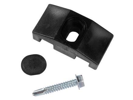Giardino attache frontale pour poteau carré 10 pièces noir