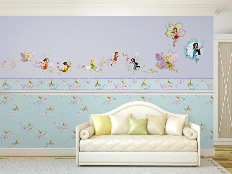 Disney behangrand zelfklevend Tinkerbell pixie dust multi