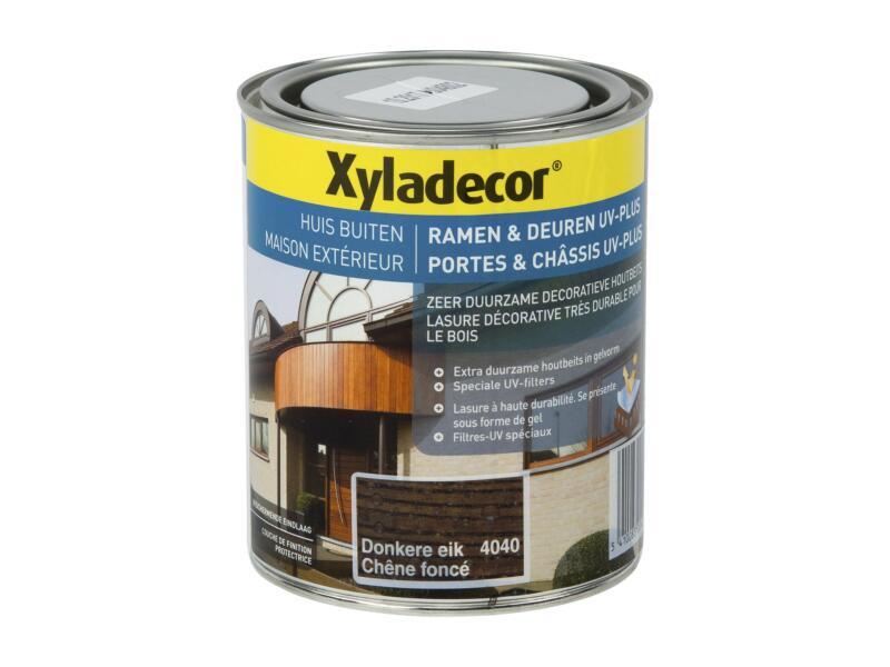 Xyladecor beits ramen & deuren UV-plus 0,75l donkere eik