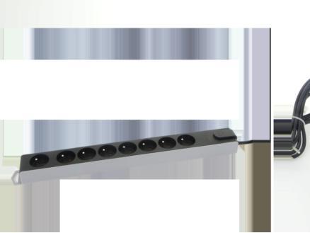 bloc multiprise avec parafoudre 8x avec interrupteur et câble 3m noir