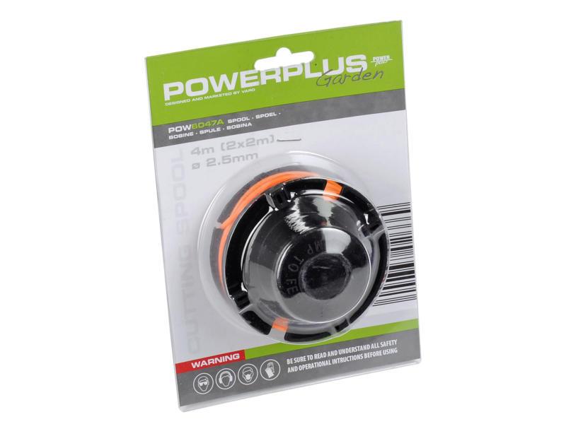 Powerplus bobine double fil pour coupe-bordures 2,5mm 2m POW6047/POW6048