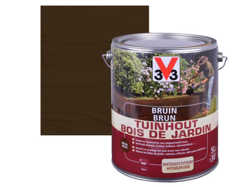 V33 bois de jardin mat 5l brun