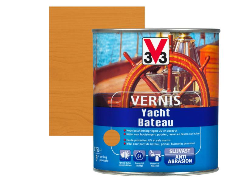 V33 bootvernis hoogglans 0,75l amber