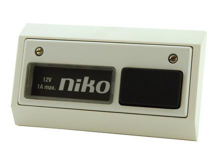 Niko bouton poussoir filaire 12V blanc