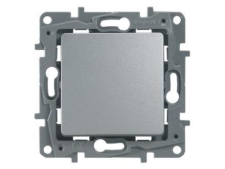 bouton-poussoir unipolaire simple Niloé aluminium