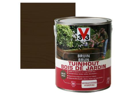V33 brun bois de jardin mat 2,5l brun