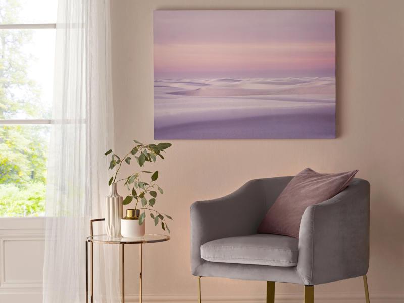 Art for the Home canvasdoek 100x70 cm duinen roze