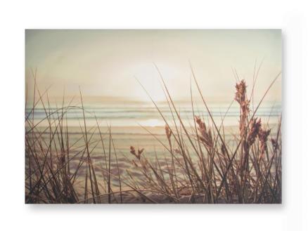 Art for the Home canvasdoek 100x70 cm zonsondergang aan zee