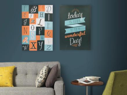 Art for the Home canvasdoek 40x60 cm alfabet