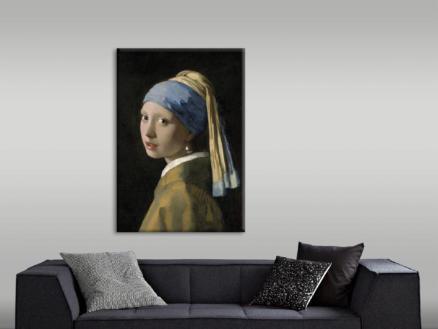 Art for the Home canvasdoek 70x100 cm meisje met de parel
