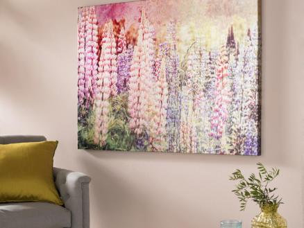 Art for the Home canvasdoek 70x100 cm ridderspoor
