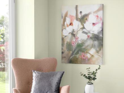 Art for the Home canvasdoek handgeschilderd 60x80 cm bloem