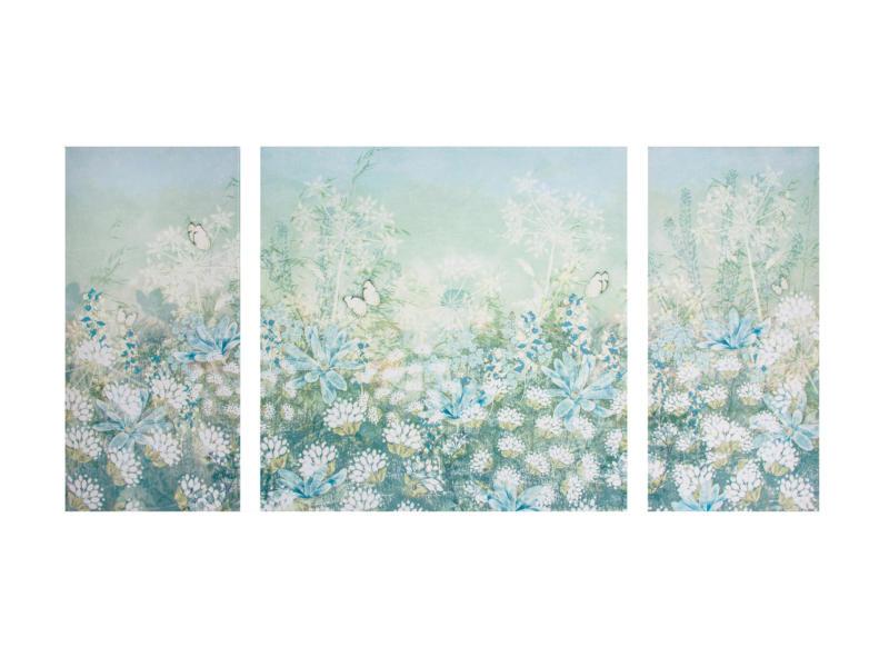 Art for the Home canvasdoek set 120x60 cm veldbloemen 3 stuks