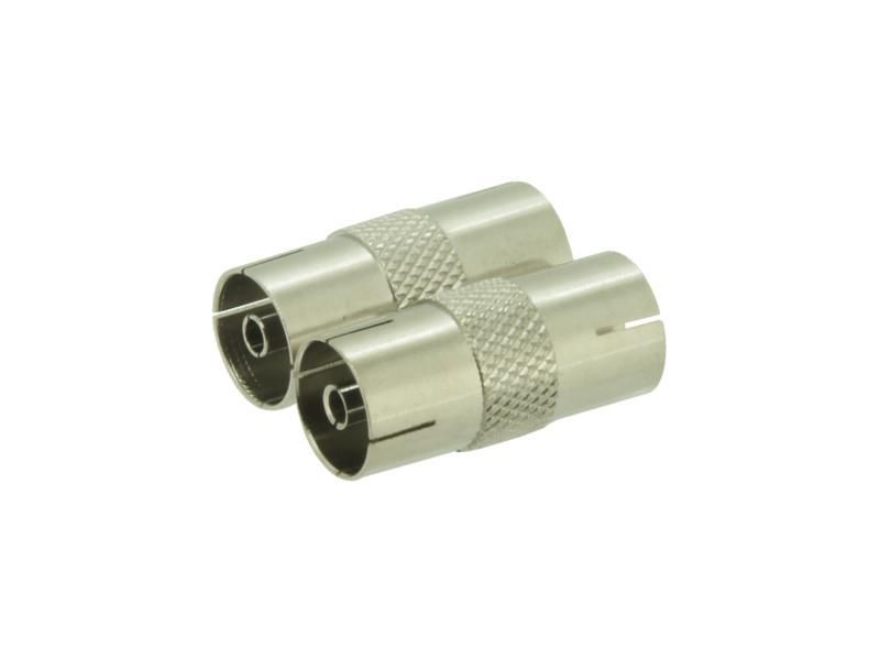 Profile changeur coaxial F-F métal 2 pièces