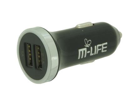Profile chargeur USB pour voiture 2x USB 12V 1-2,1 A