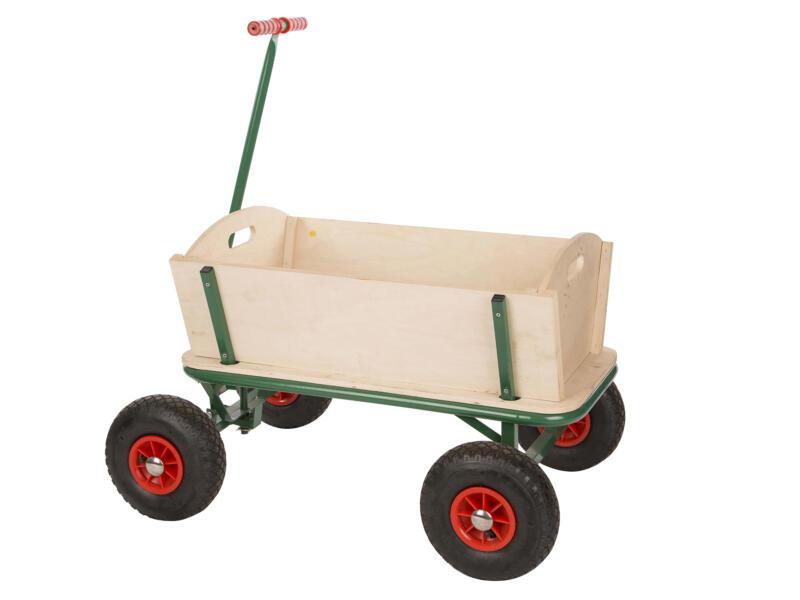 Practo Garden chariot de plage 90x60x56 cm bois