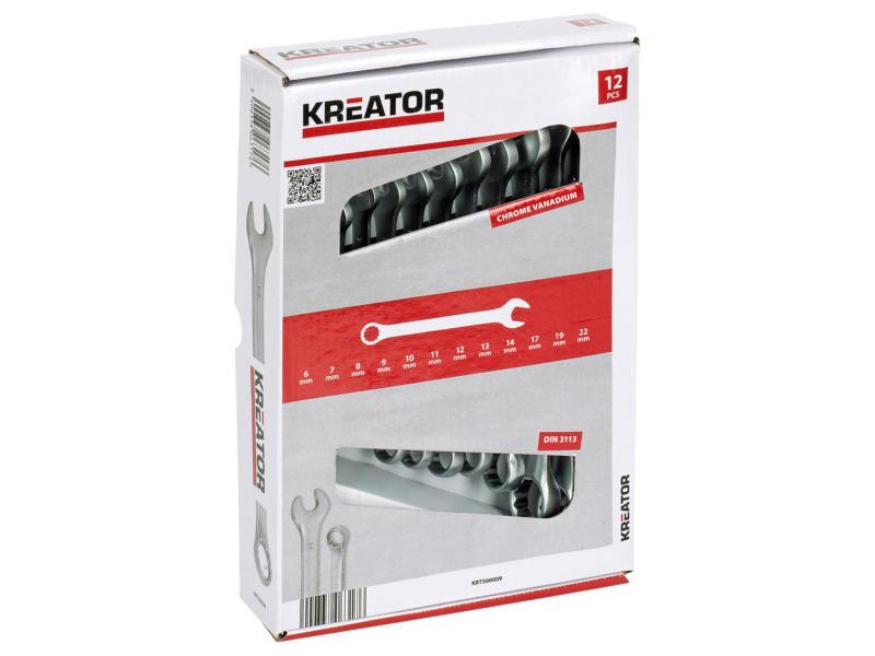 Kreator clés 6-22 mm set de 12 pièces