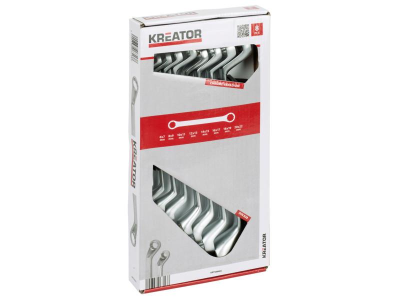 Kreator clés polygonales 6-22 mm set de 8 pièces