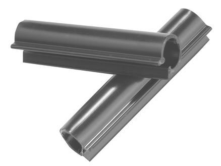 Giardino clip voor lint 50mm 100 stuks antraciet