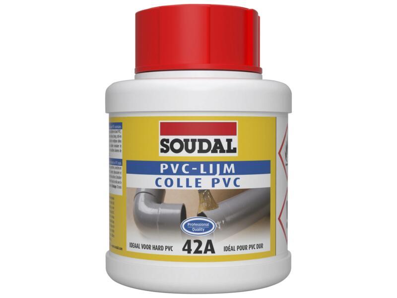 Soudal colle PVC 42A 250ml transparent