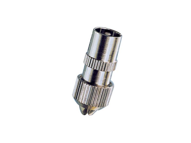 connecteur satellite/TV M métal 2 pièces