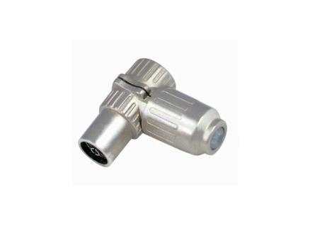 Profile contre-fiche coaxiale F métal 2 pièces