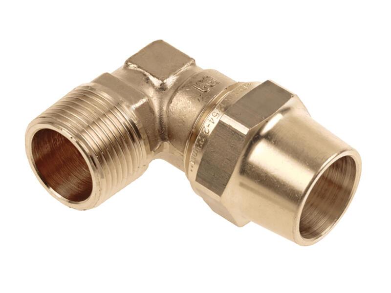 Saninstal coude bicône 22mm M 3/4