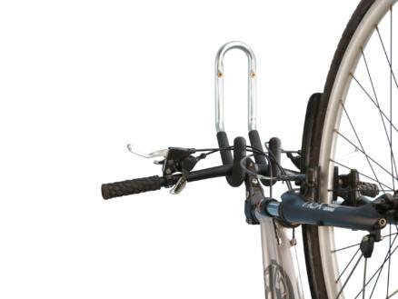 Mottez crochet double pour vélo avec fixation murale 15cm