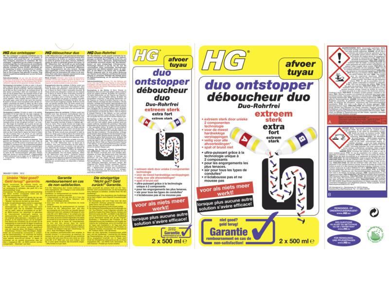 HG déboucheur duo 2x0,5 l