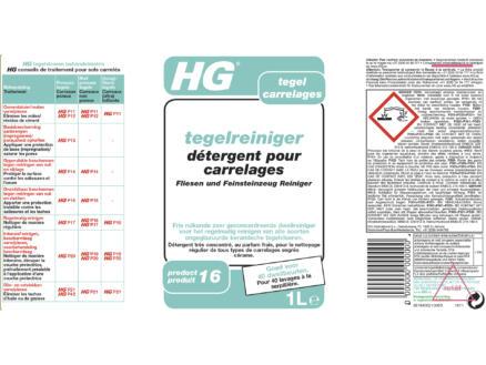 HG détergent pour carrelages 1l