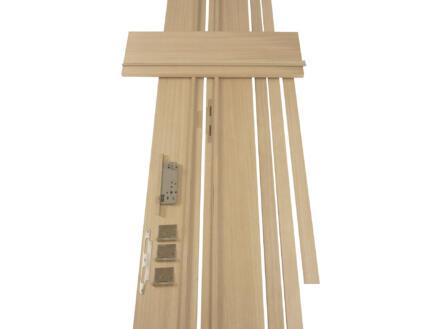 Solid deurkast MDF 202,2x25 cm eik