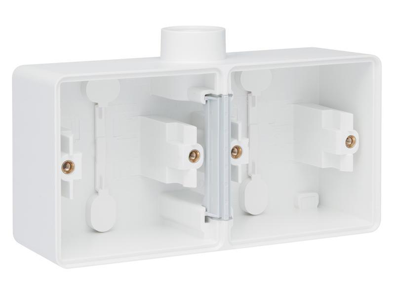 Niko double boîte en saillie horizontal 1 entrée M20 blanc