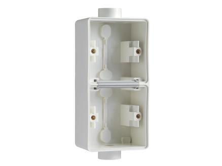 Niko double boîte en saillie vertical 2 entrées M20 simples blanc